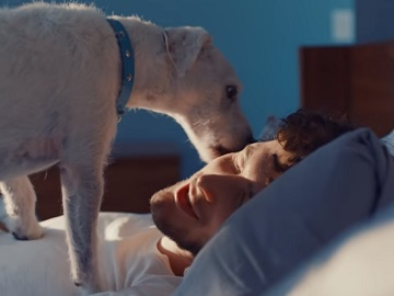 Samsung Commercial - Sleepy Man and his Dog