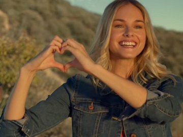 Taco Bell Commercial - Girl Making Heart Shape with Hands at Sunset