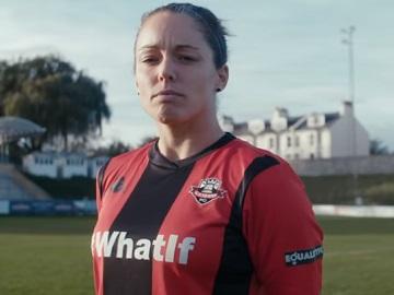 Twitter TV Advert - Female Football Player