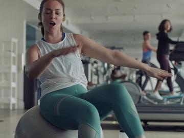 JBL Sport Headphones Commercial - Girl on Gym Ball