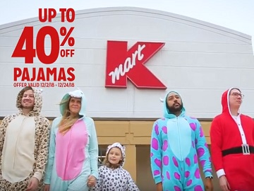 Kmart Commercial - People Wearing Fun Pajamas