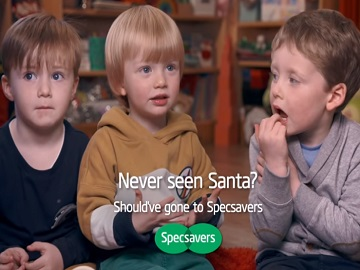 Specsavers Kids Advert - Never Seen Santa