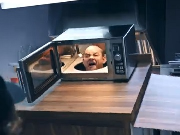 Hardee's Commercial - Man with Head in a Microwave