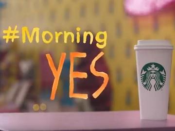 Starbucks #MorningYes Commercial