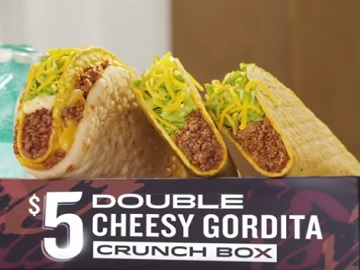 Taco Bell Commercial - $5Double Cheesy Gordita Crunch Box