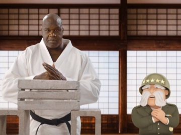 The General Shaq Karate Commercial