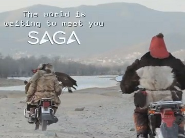 Saga Holidays Advert - Mongol with Eagle Dancing
