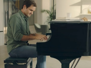 Uniqlo Ezy Jeans Advert - Roger Federer Playing the Piano