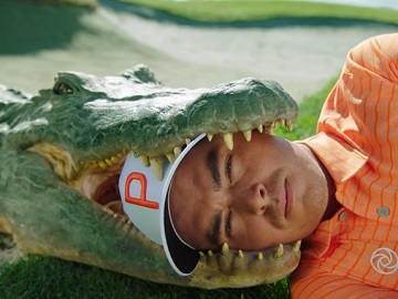 Farmers Insurance Commercial - Rickie Fowler's Head in Alligator's Mouth