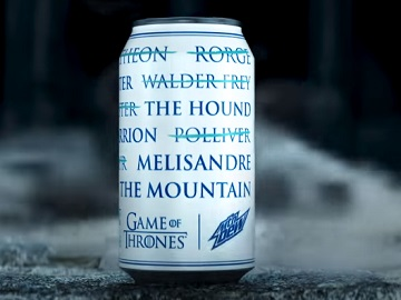 Mountain Dew Game of Thrones Can Commercial