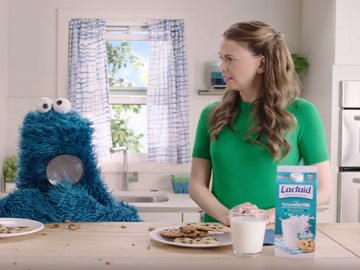 Lactaid Sutton Foster & Cookie Monster Commercial