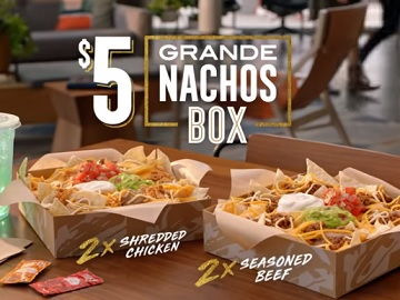 Taco Bell $5 Grande Nachos Box Commercial