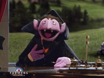 Farmers Insurance Commercial - Sesame Street Count Von Count