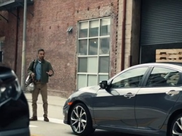 Honda Safety Commercial - Man Almost Hit by Car
