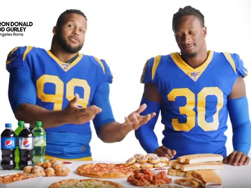 Pizza Hut Commercial - Aaron Donald & Todd Gurley