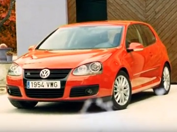Volkswagen Golf Red Commercial