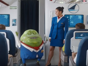 Mucinex Commercial - Mr. Mucus & Flight Attendant
