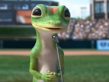 GEICO Lizard Commercial - The Gecko's Speech Ahead of Baseball Game