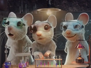 PETA Mice Lab Advert