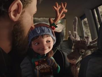 McDonald's UK Christmas Reindeer Ready Advert Girl