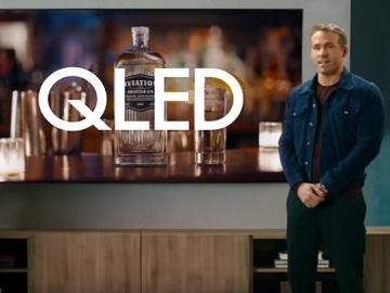Samsung QLED Ryan Reynolds 6 Underground & Aviation Gin Commercial