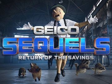 GEICO Sequels Commercial - Feat. Pinocchio, Raccoons & Motorcycle Riders