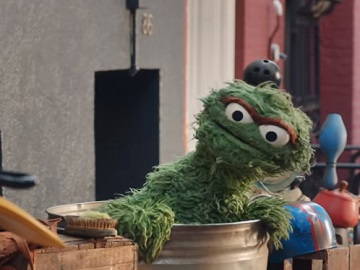 Squarespace Oscar the Grouch Commercial - Fine Trash Art