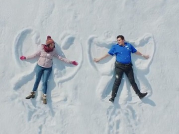 Best Buy Samsung Sales Event Commercial - Woman & Guy Making Snow Angels