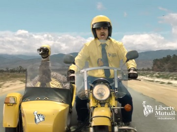 Liberty Mutual Doug & LiMu Emu Bird Sidecar Commercial