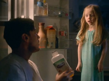Pedialyte Commercial: Father Drinking from Daughter's Bottle