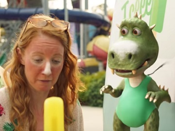 St.George Woman with Icecream & Little Dragon Commercial