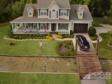 Mercury Insurance Commercial - Moat with Alligators