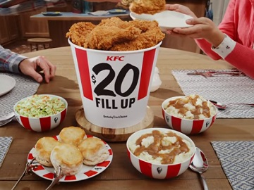 KFC $20 Fill Up Commercial - Free Delivery by Grubhub
