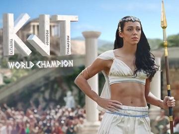 Mullerlight Greek Style Advert Girl - Katarina Johnson-Thompson