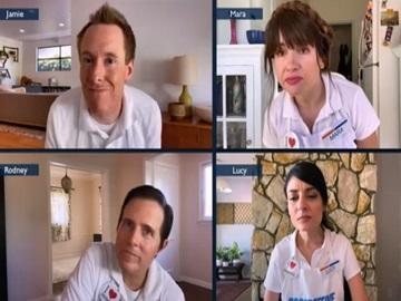 Progressive Commercial Actors: Lucy, Rodney, Jamie & Mara