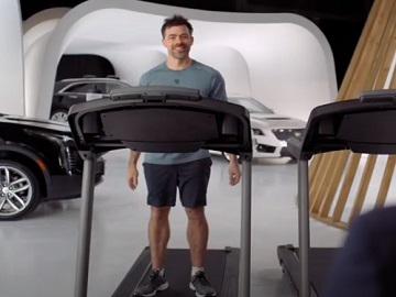 Cadillac Live Guy on the Treadmill at the Gym Commercial