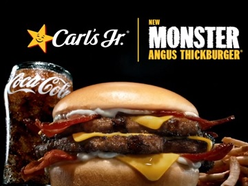 Carl's Jr. Monster Angus Thickburger Commercial