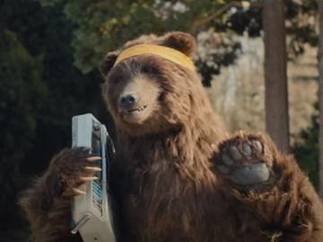 Little Caesars Stuffed Crazy Bread Commercial: Bear on Roller Skates