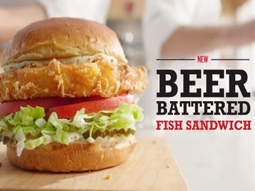 Arby's Beer-Battered Fish Sandwich Commercial
