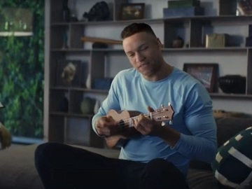 Hulu Has Live Sports Again Commercial: Aaron Judge With Small Guitar