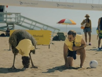 Liberty Mutual LiMu Emu & Doug Volleyball Commercial