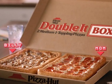 Pizza Hut Double It Box Commercial