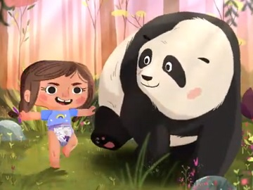 Pull-Ups New Leaf Little Girl & Panda Commercial