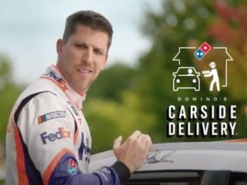 Domino's Pizza Carside Delivery Denny Hamlin Commercial