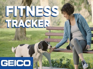 GEICO Commercial - Woman and Dog Wearing Fitness Tracker