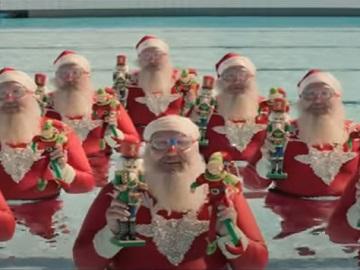 Aldi Australia Christmas Commercial - Santas at the Pool
