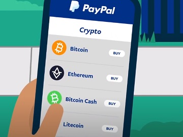 Buy Crypto Bitcoin with PayPal Commercial