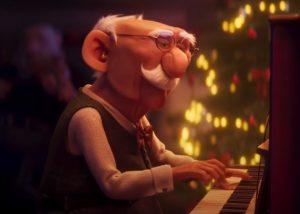 Erste Bank Christmas Advert / Werbung Weihnachten: Man Playing the Piano
