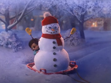 Campbell's Soup Snowman and Girl Commercial