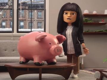 Best Buy Woman & Piggy Bank Commercial